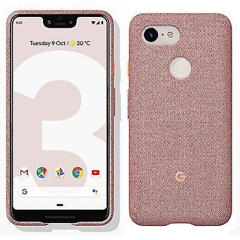 Housse Etui d'officiel véritable Google Pixel 3 tissu XL - Pink Moon (GA00500)