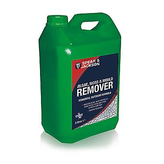Algae and Mould Remover, Moss Remover 5L Ready to Use Spear & Jackson