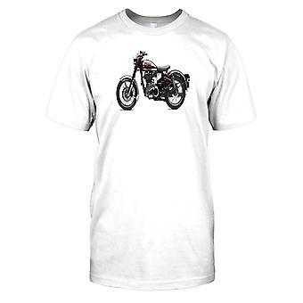 Royal Enfield Classic Chrome motorfiets foto Kids T Shirt