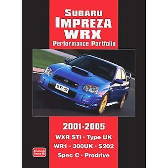 Subaru Impreza WRX prestaties Portfolio 2001-2005