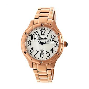 Bertha Jaclyn MOP Ladies Swiss Bracelet Watch - Rose Gold/White