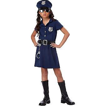 Fröken polis barn kostym