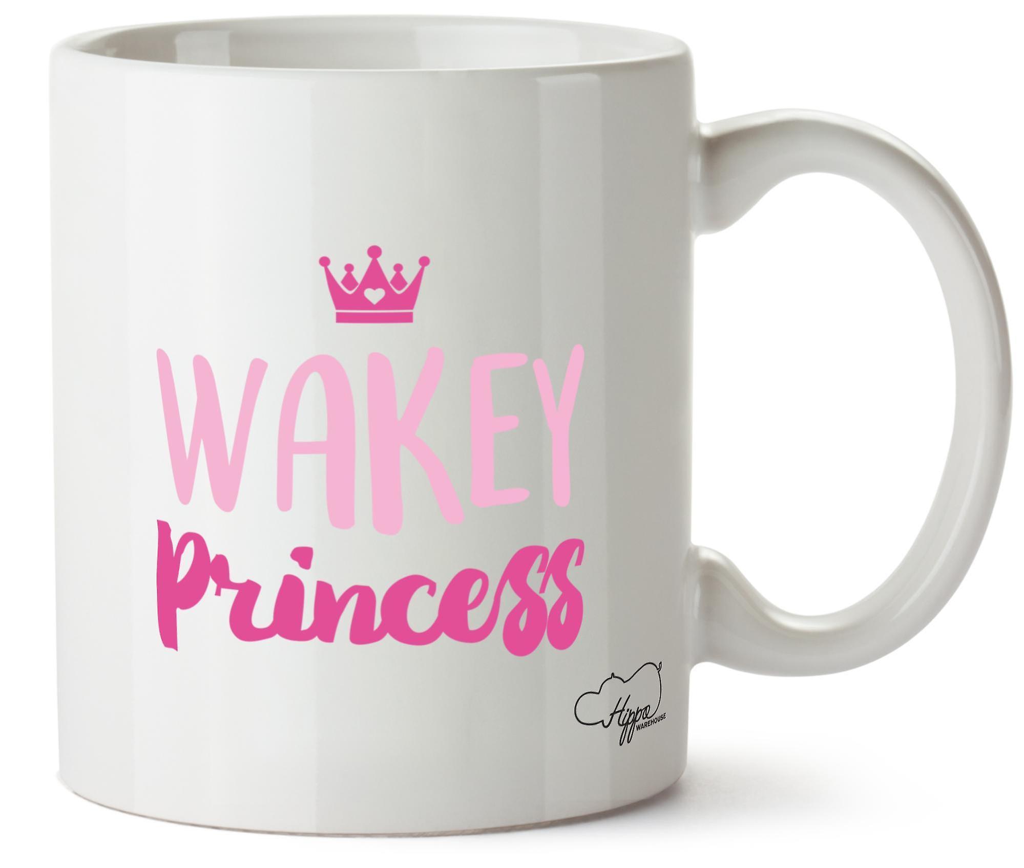 Hippowarehouse Wakey принцесса печатных кружка Кубок керамические 10oz