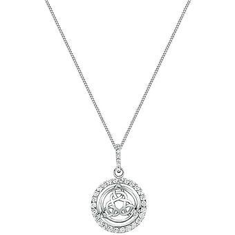 Bella Cubic Zirconia Celtic Knot Pendant - Silver