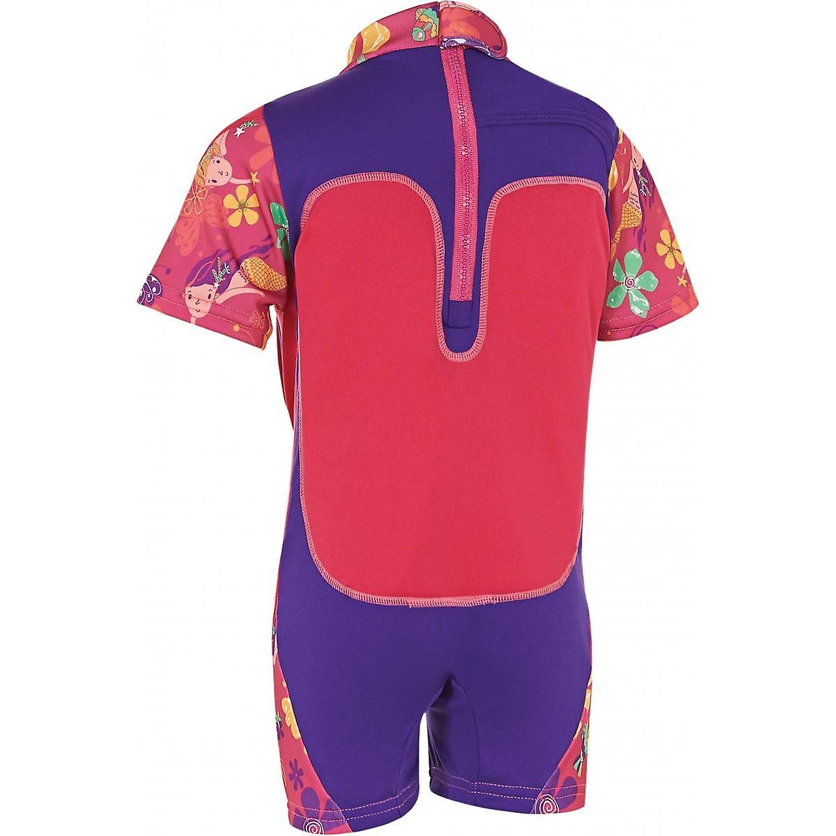 Zoggs Mermaid Flower Swimfree Infant Girls Swimming Swimsuit Floatsuit Pink