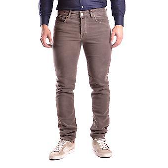 Pt05 Ezbc084014 Men's Brown Wool Jeans