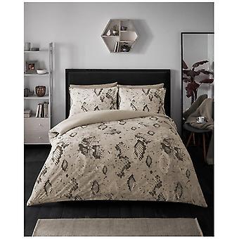 Slange hud moderne dyne Quilt coveret reversibel sengetøy sett med pute sak
