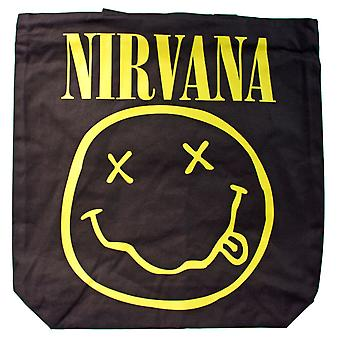 Nirvana Smiley logo Shopper laukku