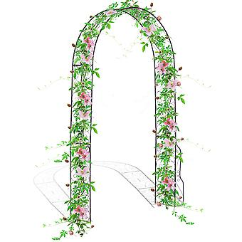 Outsunny Metal Decorative Garden Rose Arch Arbour Trellis for Climbing Plants Support Archway Wedding Gate 120L x 30W x 226H (cm)