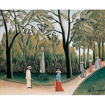 The Chopin Memorial in the Luxembourg, Henri Rousseau, 50x40cm