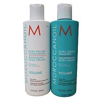 Moroccanoil extra volume shampoo & conditioner set fijn haar 8,5 OZ
