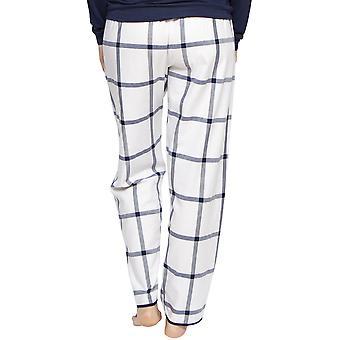 Cyberjammies 4216 Women's Emily White Mix Check Cotton Pyjama Pant
