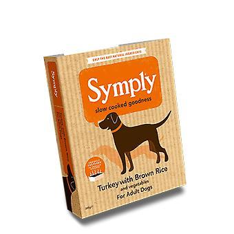 Symply pavo & arroz para perros adultos 395g bandejas mojadas - paquete individual