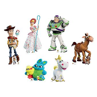 Toy Story 4 Official Disney Lifesize Cardboard Cutout / Standee Collection - Set of 6