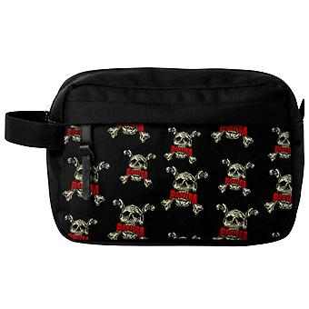 Pantera Wash Bag Skull N Bones Band Logo new Official Black