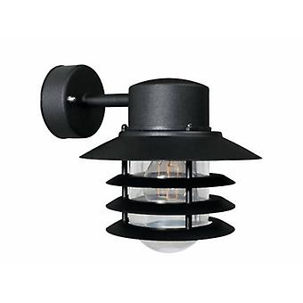 1 Light Outdoor Wall Light Black Ip54