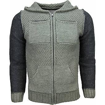 Casual Vest - Knitted Wool Hood Two Colors - Green