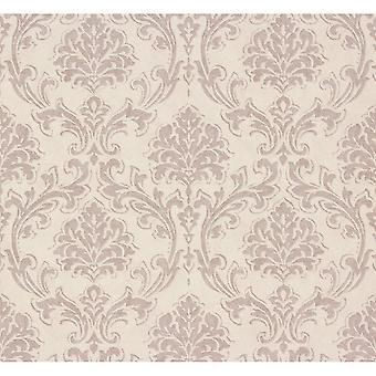 A.S. creatie als creatie klassieke damast patroon stof motief getextureerde vinyl behang 305043