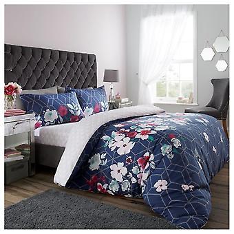 Livia Floral Bloomberry moderne bloem Dekbedovertrek quilt cover omkeerbare bedden set