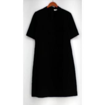 Liz Claiborne York Dress Essentials Stretch Knit Short Sleeve Black A295618