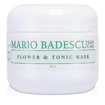 Mario Badescu Flower & Tonic Mask - For Combination/ Oily/ Sensitive Skin Types - 59ml/2oz