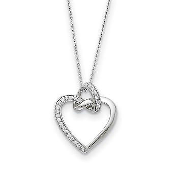 925 Sterling Silver polerad gåva Boxed Spring Ring Rhodium pläterad CZ Cubic Zirconia Simulerad Diamond Friendship Promis