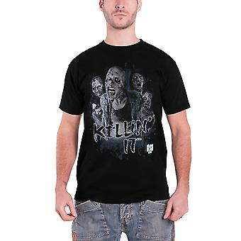 The Walking Dead T Shirt Walkers Killin It Zombies Logo Official Mens New Black