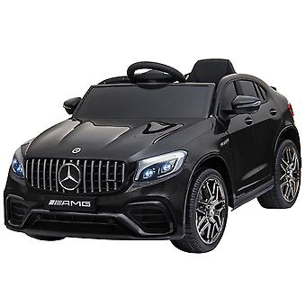 HOMCOM Compatible for 12V Ride-On Car with Remote Control, Suspension Wheel Black Mercedez Benz AMG GLC63S COUPE