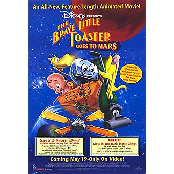 Brave Little Toaster idzie na Marsa (Video) Oryginalny Video / Dvd Ad Plakat