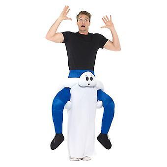 Mens piggyback Ghost fancy klänning kostym Halloween