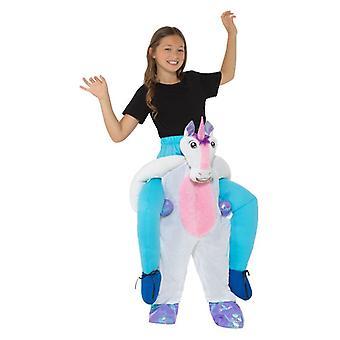 Childrens Piggyback grå & Pink Unicorn Fancy kjole kostyme