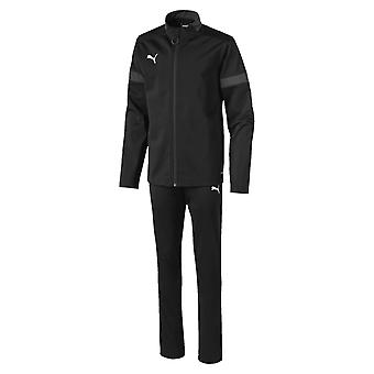 Puma FtblPLAY Kids Football Fitness Training Sports Tracksuit Set Black/Grey