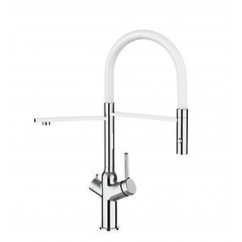 3 Way Kitchen Filter Sink Mixer Avec White Spout et 2 Jet Spray, fonctionne avec tout le système de filtre à eau - 374