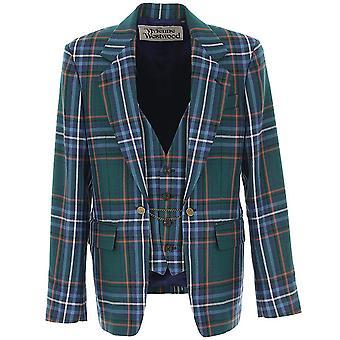 Vivienne Westwood Green Chequered Jacket