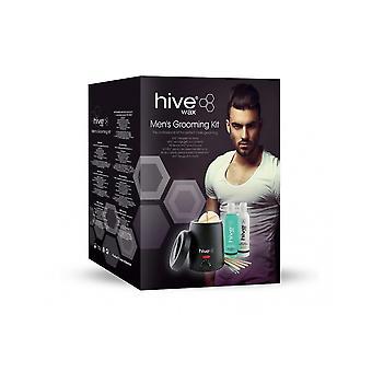 Bikube af skønhed mandlig grooming voksning varmelegeme med pre & amp; Efter voks lotions kit