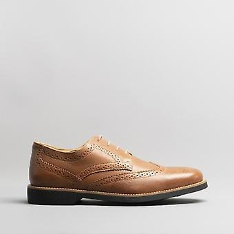 Anatomic & Co. Tucano Mens Leather Brogue Shoes Cognac