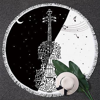 Zwart-wit muziek Love strandlaken