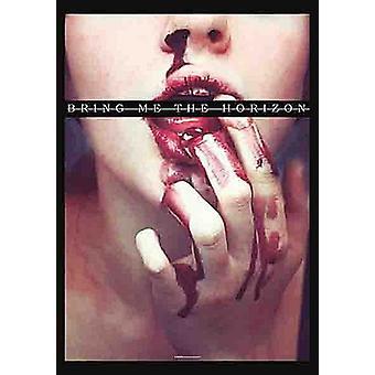 Bring Me Horisont blodtörst stor väv affischen / fana 1100 X 750 Mm