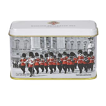 Black and white buckingham palace guards tea tin 10 teabags