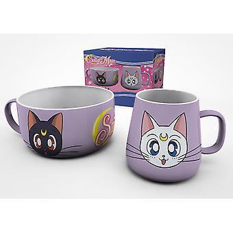 Sailor Moon Luna en Artemis ontbijt set