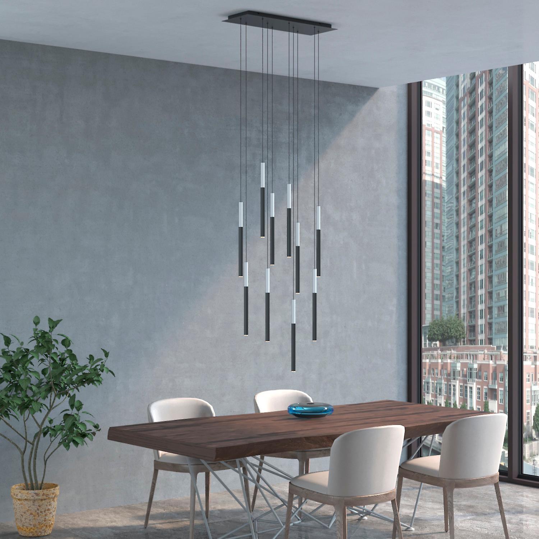 ALTAIR 10 Mini Pendant Lighting White-Black - LED Hanging Light Fixture