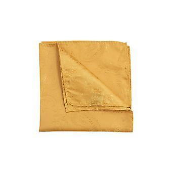 Dobell Mens Mustard Paisley Pocket Square