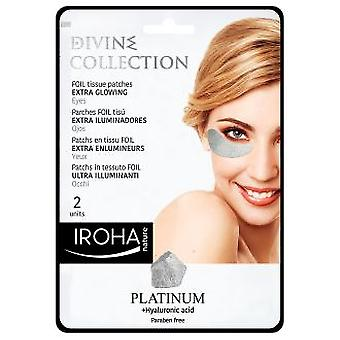 Iroha Nature Patchy Eyed Patchs Platinum Extra brillant 2 pièces
