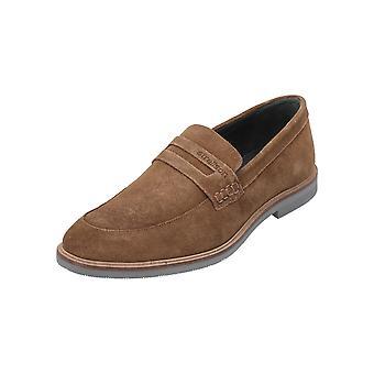 Strellson nieuwe HARLEY LOAFER LFO 2 mannen loafer Brown slip-ons zakelijke schoenen