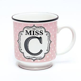History & Heraldry Alphabet Mug - Miss C