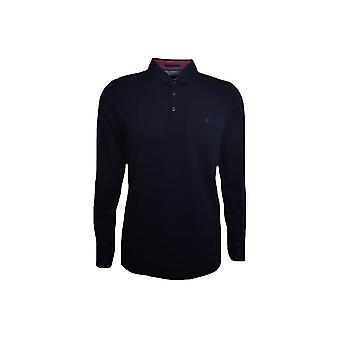 Bleu marine Long Ted Baker masculine Sleeved Shirt Polo Scooby