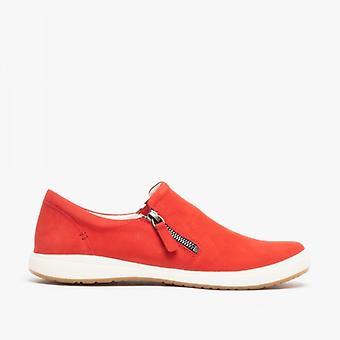 Josef Seibel Caren 22 Ladies Leather Casual Trainers Red