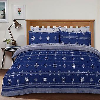 Inka Geo Blue Bettwäsche Set-Single
