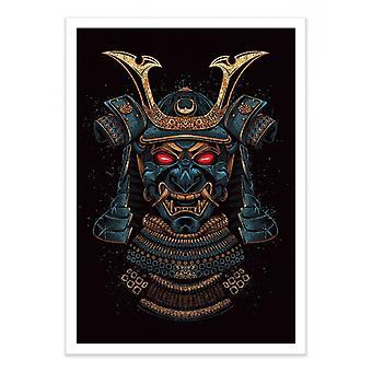Art-Poster - Gold Mask Samurai - Alberto Cubatas 50 x 70 cm