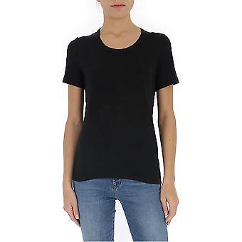 Isabel Marant ÉToile 00mts037800m004e01bk Women's Black Linen T-shirt